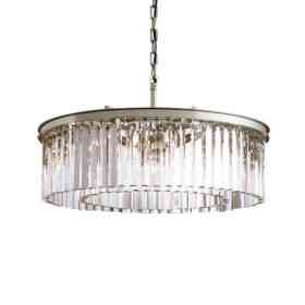 Подвесной светильник Delight Collection Odeon 10B chrome/clear KR0387P-10B chrome/clear