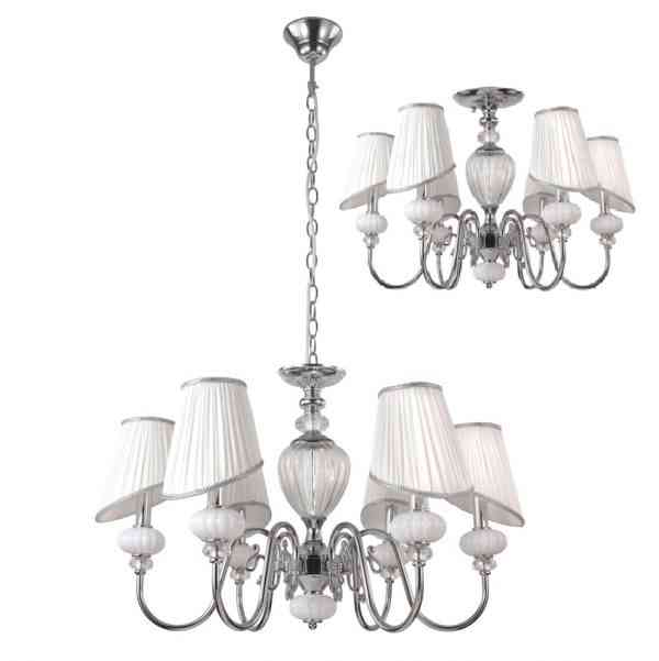 Люстра Crystal Lux ALMA WHITE SP-PL6 1