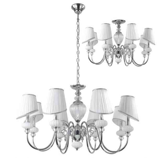 Люстра Crystal Lux ALMA WHITE SP-PL8 1
