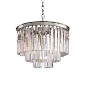 Подвесной светильник Delight Collection Odeon 6 chrome/clear KR0387P-6 chrome/clear