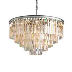 Подвесной светильник Delight Collection Odeon 10A chrome/amber KR0387P-10A chrome/amber