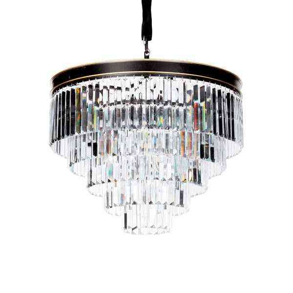 Подвесная люстра Delight Collection Odeon 25 black/clear 1