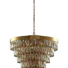 Люстра Crystal Lux ABIGAIL SP-PL15 D620 GOLD/AMBER