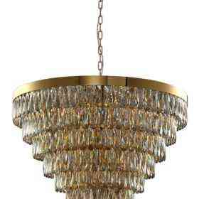 Люстра Crystal Lux ABIGAIL SP22 D820 GOLD/AMBER