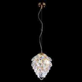 Светильник подвесной Crystal Lux CHARME SP1+1 LED GOLD/TRANSPARENT