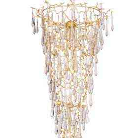 Люстра Crystal Lux REINA SP34 D1200 GOLD PEARL