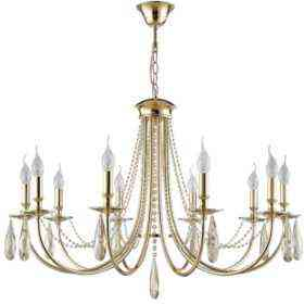 Люстра Crystal Lux VICTORIA SP10 GOLD/AMBER