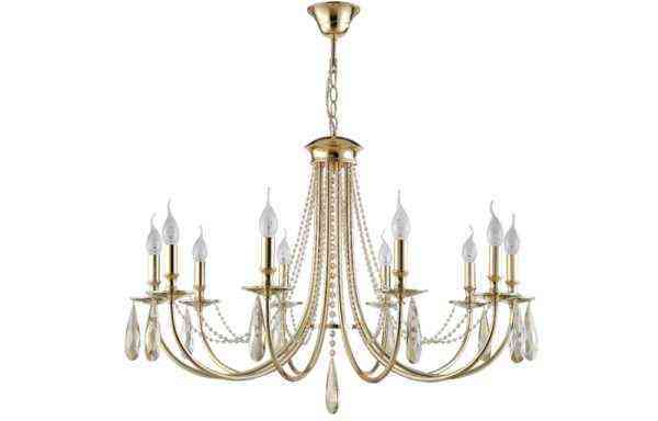 Люстра Crystal Lux VICTORIA SP10 GOLD/AMBER 1
