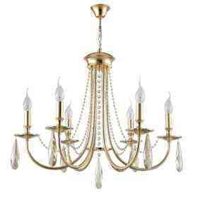 Люстра Crystal Lux VICTORIA SP6 GOLD/AMBER