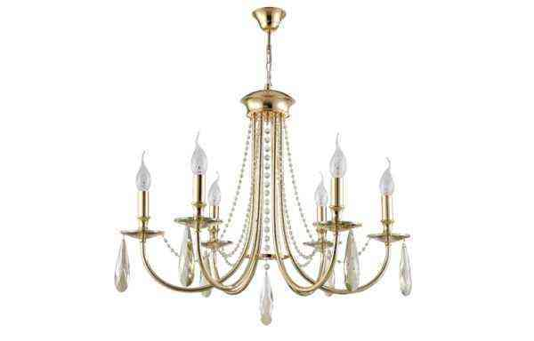 Люстра Crystal Lux VICTORIA SP6 GOLD/AMBER 1