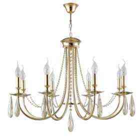 Люстра Crystal Lux VICTORIA SP8 GOLD/AMBER
