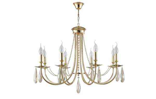 Люстра Crystal Lux VICTORIA SP8 GOLD/AMBER 1