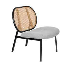 Кресло LOUNGE CHAIR SPIKE NATURAL/GREY 3100120 Zuiver